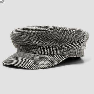 Zara houndstooth cabby hat